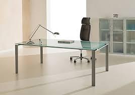 bureau direction verre table de bureau direction en verre sablé dépoli lagon