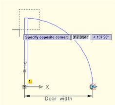 autocad tutorial create a dynamic block of a door autocad tips blog