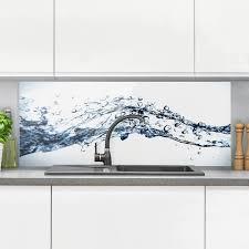 spritzschutz glas water splash panorama quer