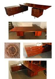 georges nelson bureau executive desk en palissandre edition herman