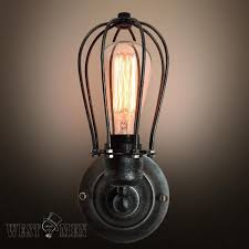creative wall sconces vintage american wall industrial wire cage
