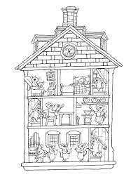Snoopy Dog House Coloring Page Printable Sheet Houses Homes Pages Preschool Kindergarten Elementary School Children Print