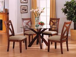 Round Kitchen Table Sets Walmart by Stylish Natural Eased Edge Top Hardwood Dining Table Design With