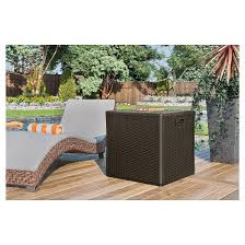 Suncast Resin Patio Furniture by Suncast Storage Cube Resin Wicker 60 Gallon Target