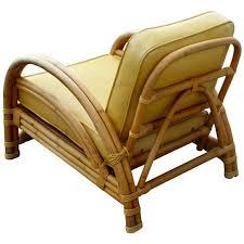 Vintage Paul Frankl Style Ritts Tropitan Rattan Lounge Chair