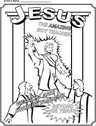 Boy Jesus Coloring Page