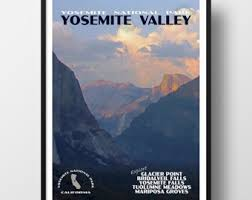Yosemite Poster Print National Park Travel