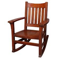 1920s Antique Arts & Crafts Mission Oak Limbert Rocking Chair