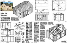 tree sheds free storage shed plans 8 x 16