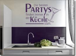 wandtattoo die besten partys toller küchenspruch