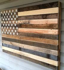 Rustic American Flag Wall Art Vintage This Was Built Using Reclaimed