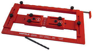 Hafele Cabinet Hardware Edge Pull by Hafele Quick Set Drilling Jig For Handles Cabinet Jigs