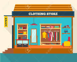 Clothing Store Man And Woman Clothes Shop Boutique Shopping Fashion Bags