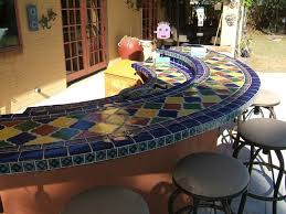 fresh mexican tile patio table tile top dining table home