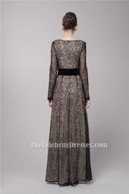 gwyneth paltrow inspired black lace long sleeve formal evening