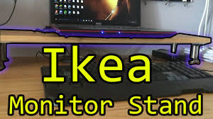 Monitor Shelf For Desk Ikea by How To Build Monitor Stand 3 Minutes Tutorial Youtube