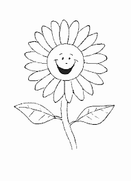 Drawn Sunflower Coloring Book 7