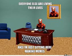 100 spiderman desk meme generator this is a weird book by