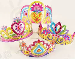 4pcs DIY Handmade Girls Crown Kids Children Educational Toys Kindergarten Art Craft EVA Mosaic Stickers Free Shipping In From