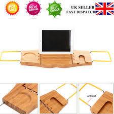 Bath Caddy With Reading Rack Uk by Bamboo Bathroom Organisers U0026 Caddies Ebay