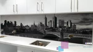 Melbourne City Photo Printed On Splashback