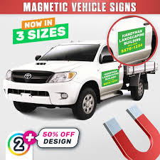 Magnet Vehicle Door Signs | 2 X Magnetic Door Signs $99.00! | D2P (AU)