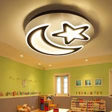 lustre chambre d enfant creative demi étoile lune led lustre lumière 85 265 v enfant chambre