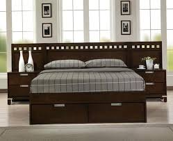 King Platform Bed With Headboard by California King Platform Bed Frame With Storage Cal King Size Bed