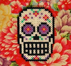 Halloween Hama Bead Patterns by Sugar Skull Perler Coaster By Cephalo786 Deviantart Com On