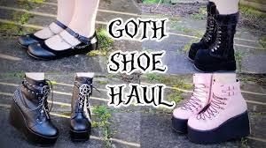 demonia goth shoe haul w ami clubwear toxic tears youtube