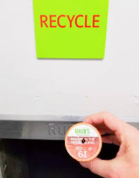 RecycleYourPods BlendsInTheBin Recyclable K Cups Going Into Recycle Bin