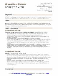 Bilingual Case Manager Resume Example