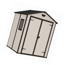 Keter Woodland Lean To Storage Shed by Keter Manor Outdoor Plastic Garden Storage Shed 6 X 5 Feet Beige