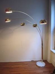 Vintage Circa Italian 5 Arm Arc Lamp In Brass With Marble Base Is For Sale Now This A Outstanding Original Very Goo