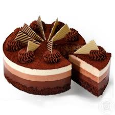 three chocolate cake home delivery from the store zakaz ua