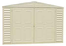 Duramax Storage Shed Accessories by Duramax 10 U0027 X 20 U0027 Vinyl Garage Storage Shed With Foundation Kit 01216