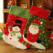 Stockings Natal Hand Making Crafts Children Candy Gift Bag Elk Snowman Coration Als Santa For Toddlers Simple Craft