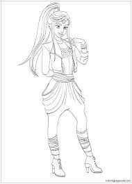 Descendants 2 Coloring Pages Plus Best Images On Of Page
