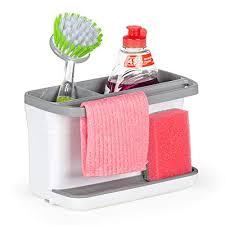 rosmarino spülbecken organizer für die kuche küchen organizer aus hochwertigem abs plastik 22x14x11 cm grau utensilienhalter küche mit