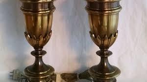 Stiffel Floor Lamp Vintage by Stiffel Lamps Brass Trophy Neoclassical Hollywood Regency Head