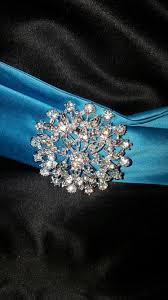 white wedding gown with blue sash