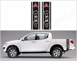100 Truck Bed Decals Mitsubishi L200 Decals Bed Side Racing Stripe Stickers