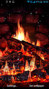 Fireplace live wallpaper for Android Fireplace free for