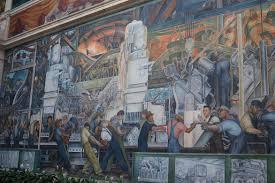 Diego Rivera Rockefeller Center Mural Controversy by Diego Rivera U0027s Detroit Industry U2013 Detroit Michigan Atlas Obscura
