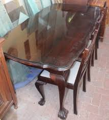 Imbuia Dining Table X 6 Chairs And Sideboard Set