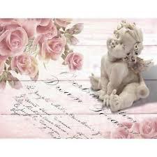 details zu fototapete vintage blumen engel vliestapete rosa wohnzimmer schlafzimmer