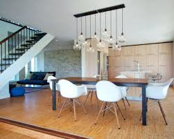 Dining Pendant Lights Room Rectangular Light Fixtures Table Crystal