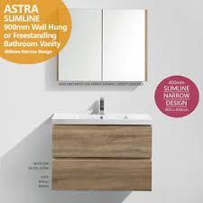 Ebay Bathroom Vanity 900 by Astra Slimline 900mm White Oak Timber Wood Grain Narrow Bathroom