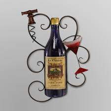 Elements Wine Bottle Metal Wall Decor