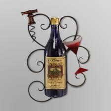 Elements Wine Bottle Metal Wall Decor